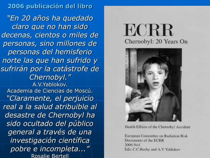 2006 publicación del libro