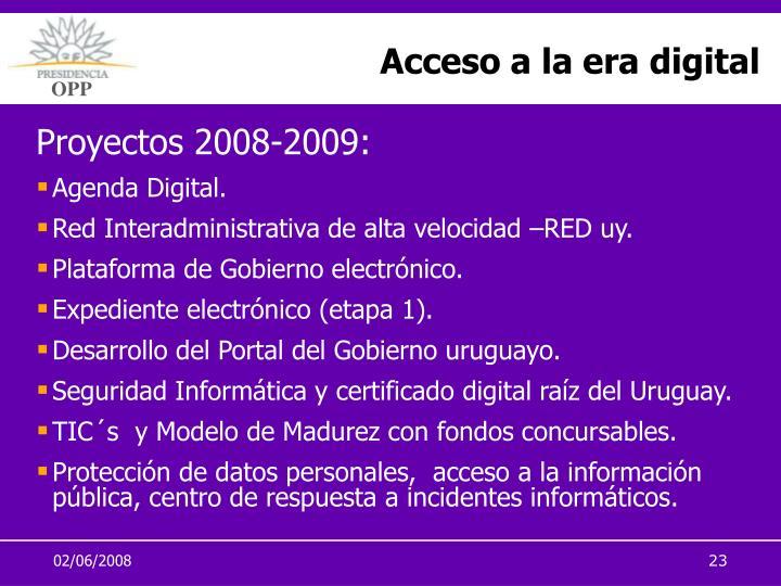 Acceso a la era digital