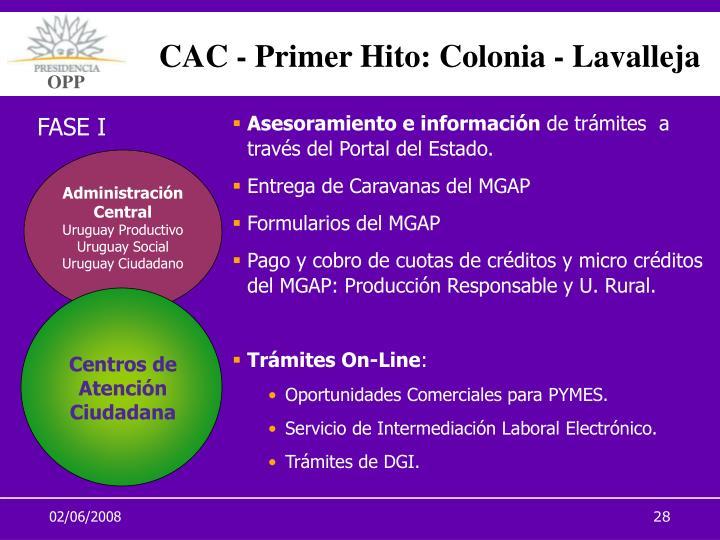 CAC - Primer Hito: Colonia - Lavalleja