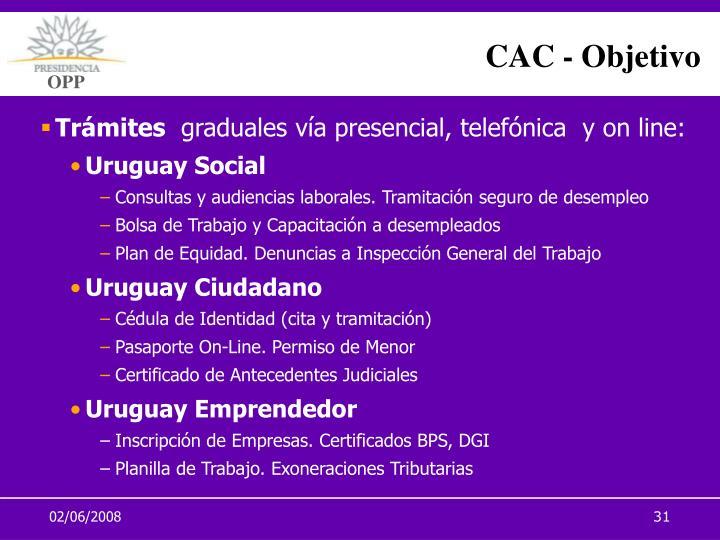 CAC - Objetivo