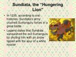 sundiata the hungering lion