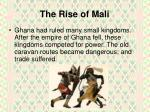 the rise of mali1
