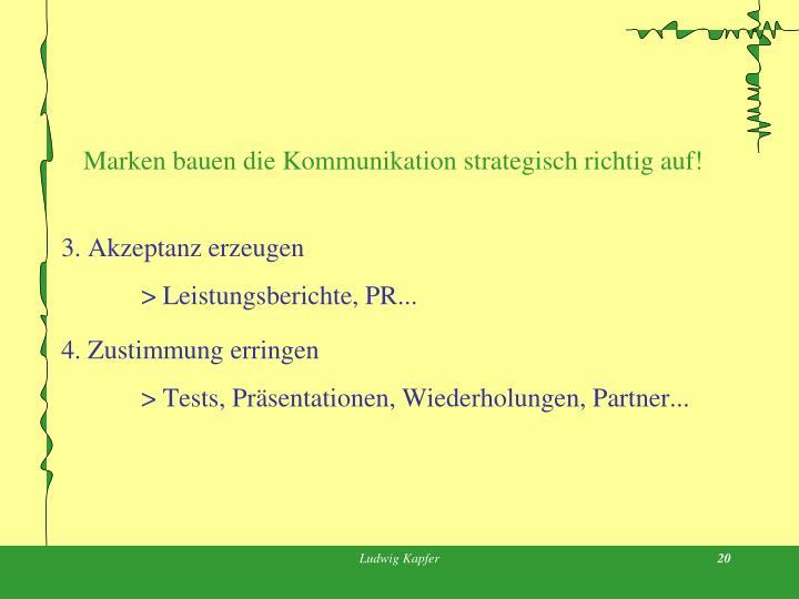 Marken bauen die Kommunikation strategisch richtig auf!