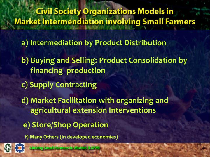 a) Intermediation by Product Distribution