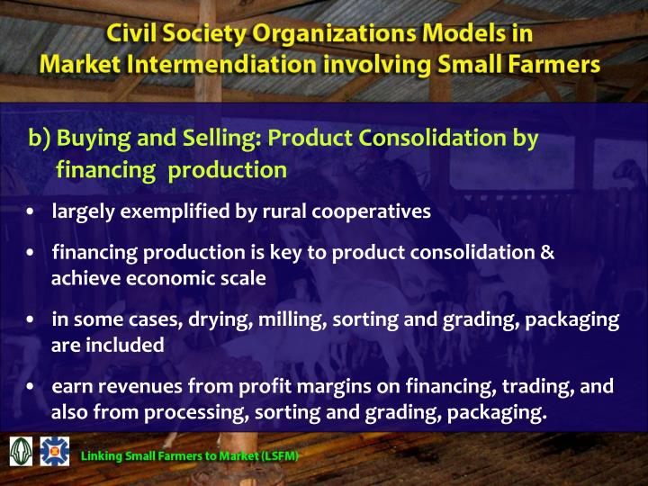 b) Buying and Selling: Product Consolidation by