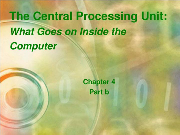The Central Processing Unit: