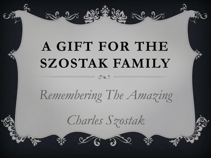 a gift for the szostak family n.