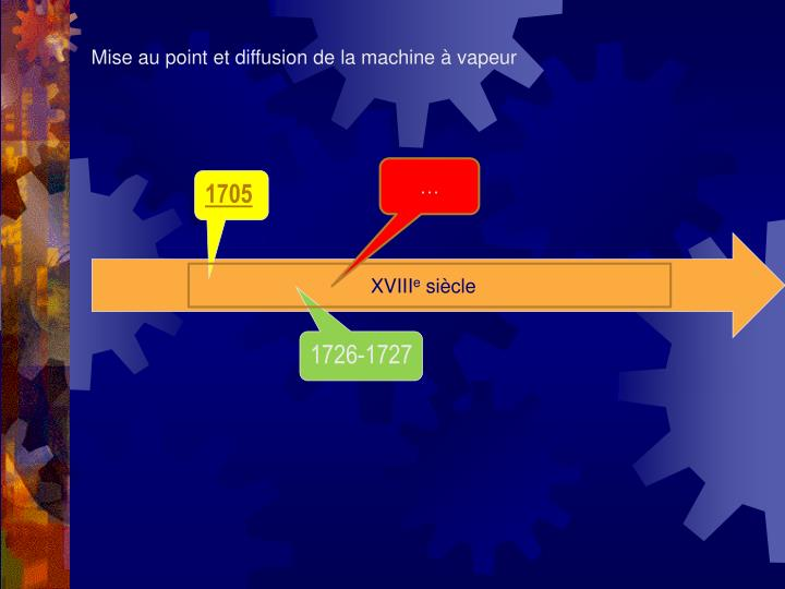 Mise au point et diffusion de la machine à vapeur
