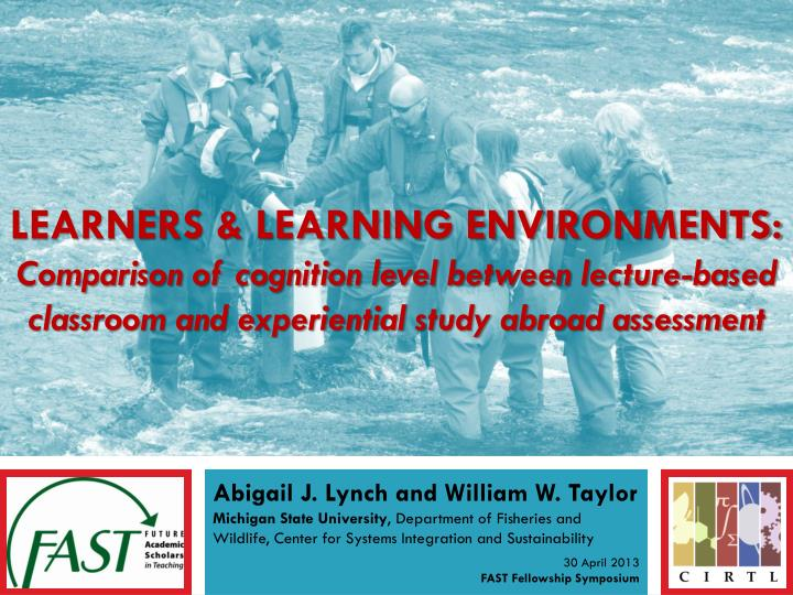 Learners & Learning environments: