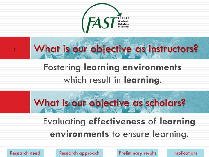 What is our objective as instructors