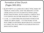 formation of the church pages 360 361