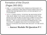 formation of the church pages 360 3611