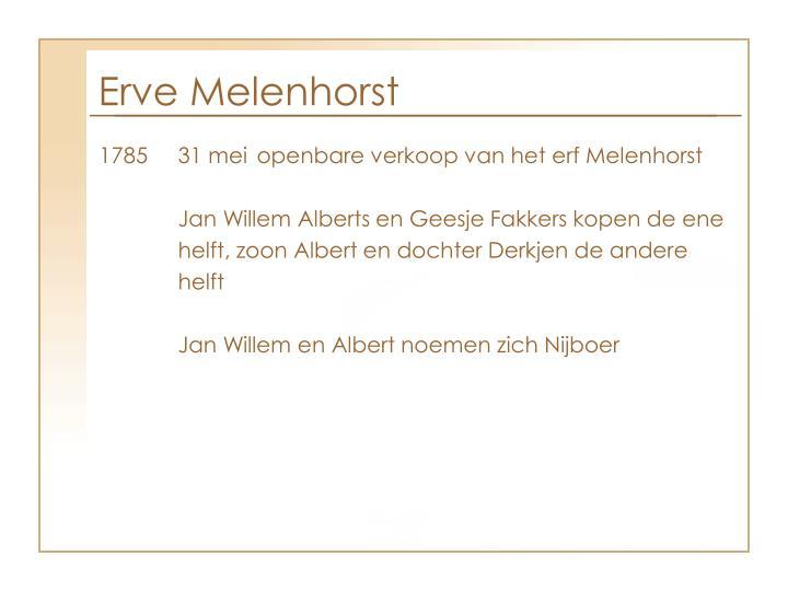 Erve Melenhorst
