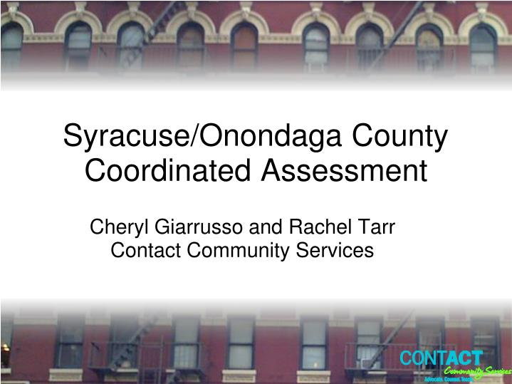 syracuse onondaga county coordinated assessment n.