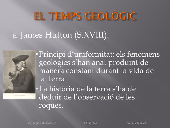 EL TEMPS GEOLÒGIC