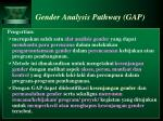 gender analysis pathway gap