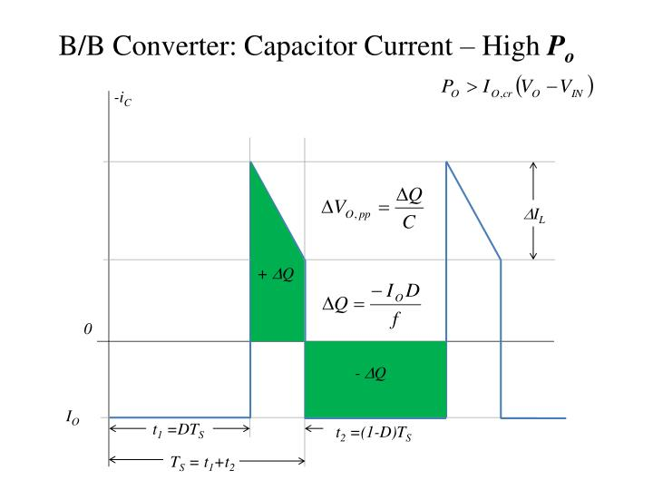 B/B Converter: Capacitor Current – High