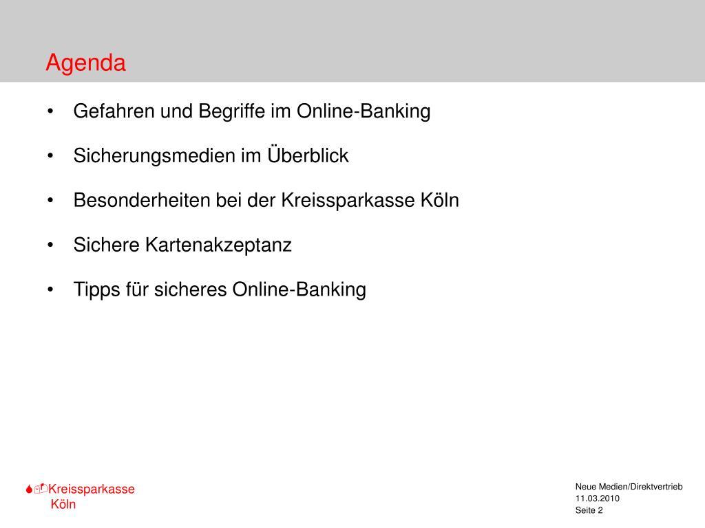 Kreissparkasse Köln Online-Banking