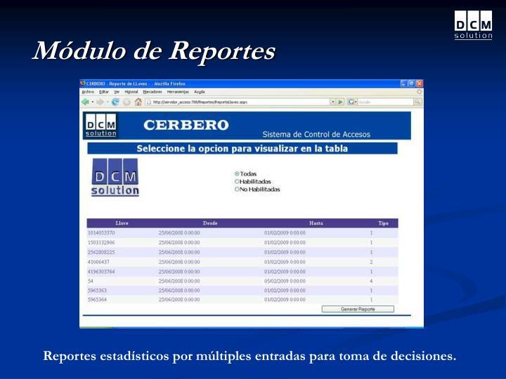 Módulo de Reportes
