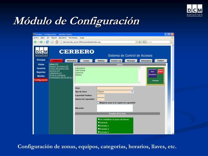 Módulo de Configuración