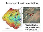 location of instrumentation