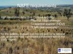 nafe requirements