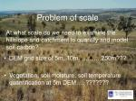 problem of scale