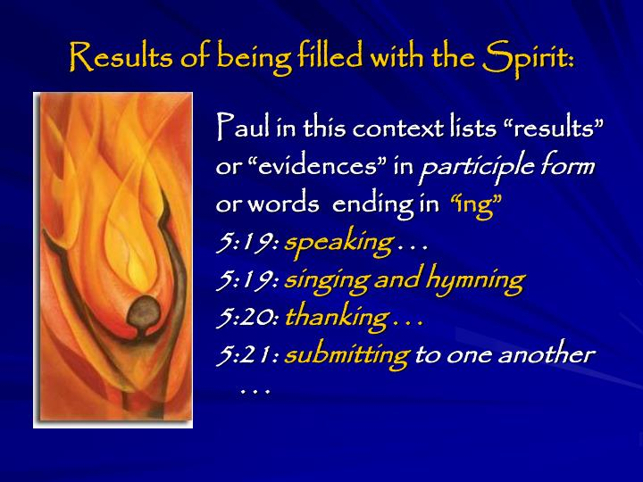 Results of being filled with the Spirit: