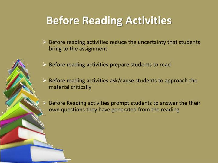 Before Reading Activities
