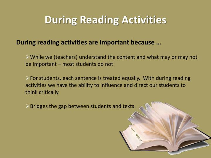 During Reading Activities