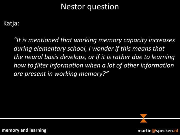 Nestor question