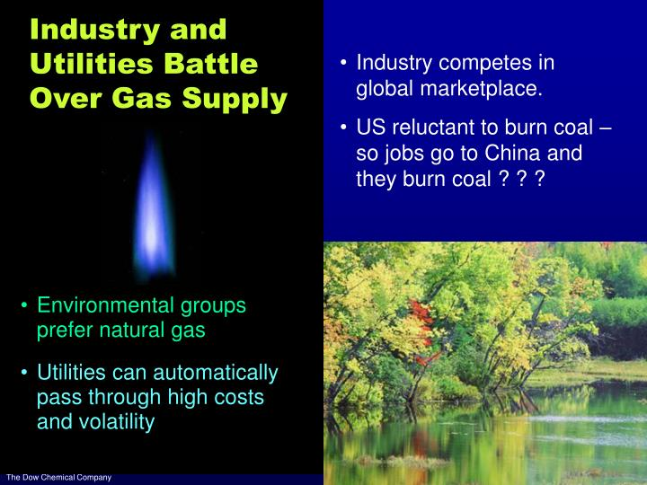 Industry and Utilities Battle Over Gas Supply