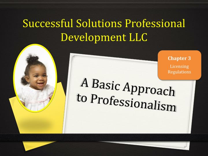 a basic approach to professionalism