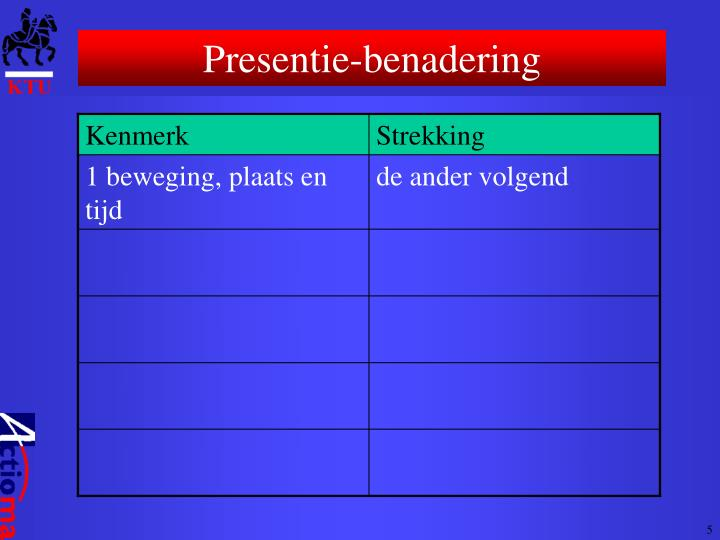 Presentie-benadering
