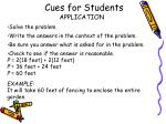 cues for students2