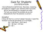 cues for students4