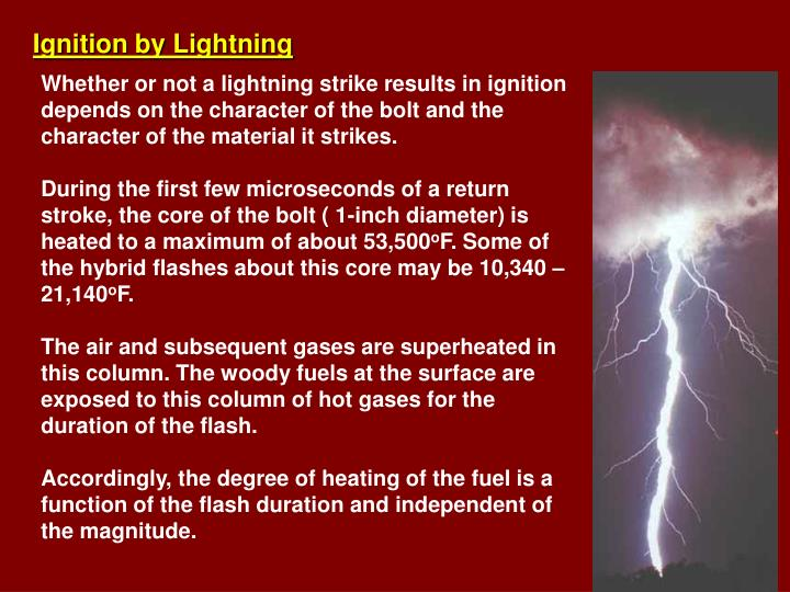 Ignition by Lightning