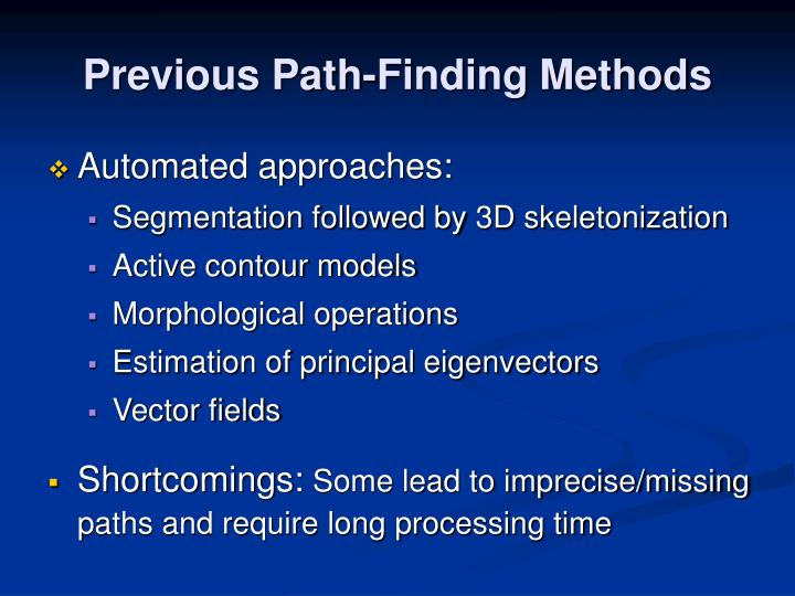 Previous Path-Finding Methods