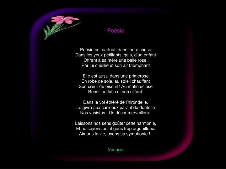 Poésie
