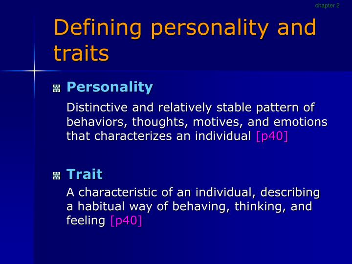 p1 define personality and how it Personality is nothing but the aggregate conglomeration of memories and incidents in an individual's entire life span environmental factors, family background, financial conditions, genetic factors, situations and circumstances also contribute to an individual's personality.