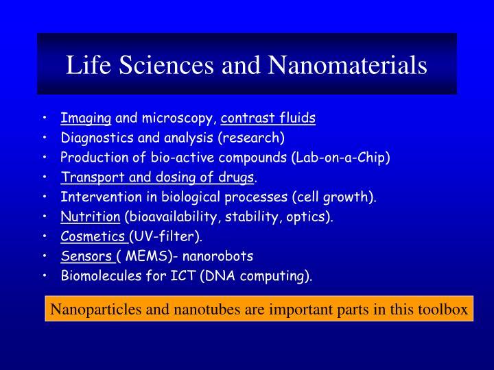 Life Sciences and Nanomaterials