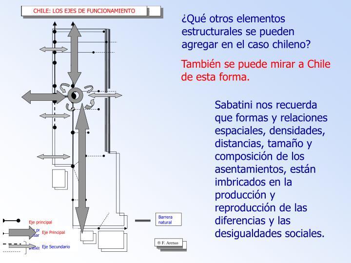 ¿Qué otros elementos estructurales se pueden agregar en el caso chileno?