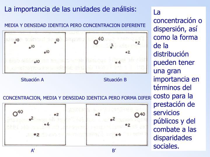 La importancia de las unidades de análisis: