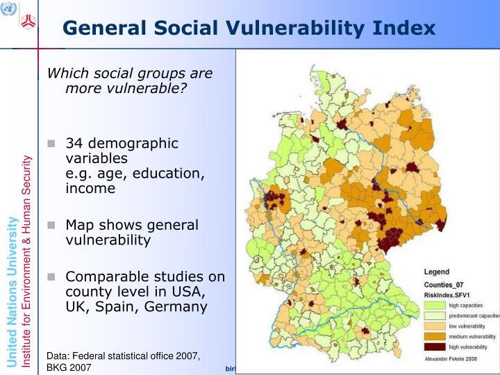 General Social Vulnerability Index