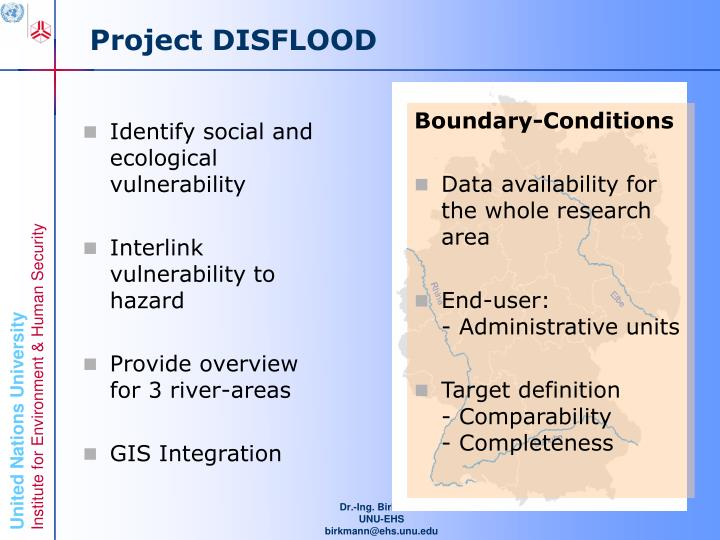 Project DISFLOOD