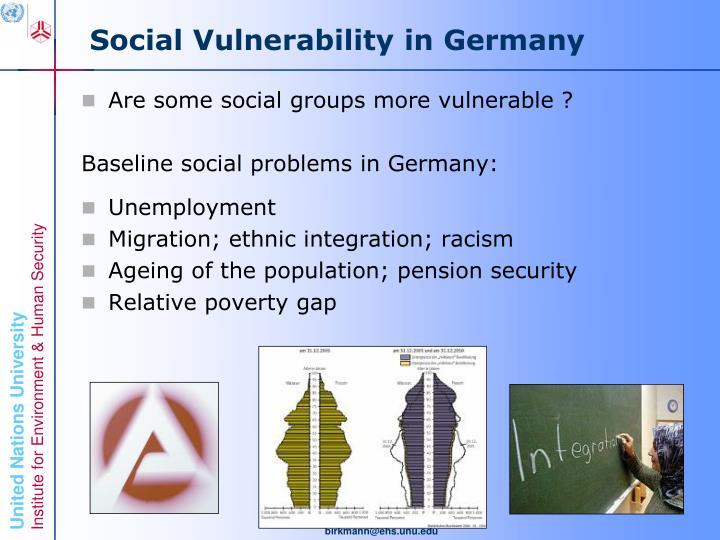 Social Vulnerability in Germany