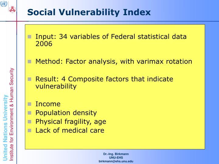 Social Vulnerability Index