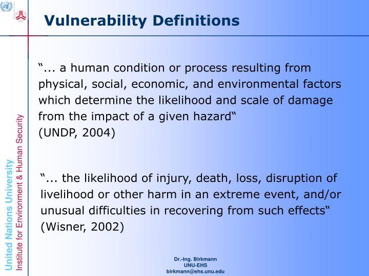 Vulnerability Definitions