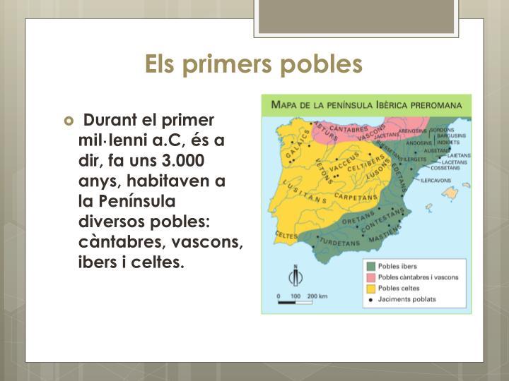 Els primers pobles