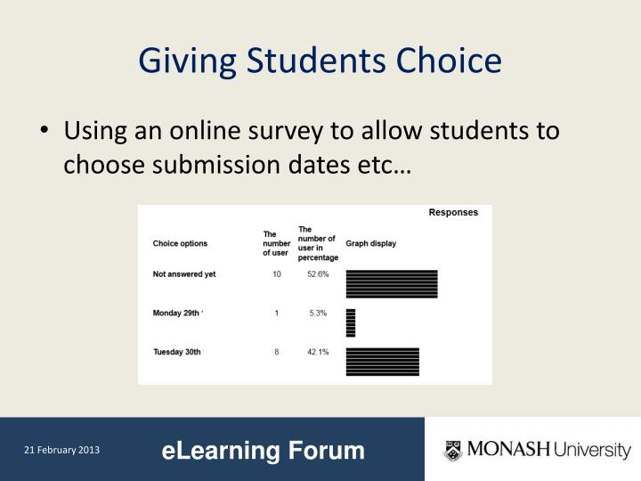 Giving Students Choice